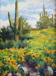 Saguaros in Springtime