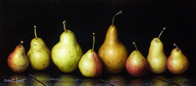 Pears in a Row, Black