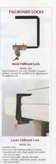 Fallboard Locks