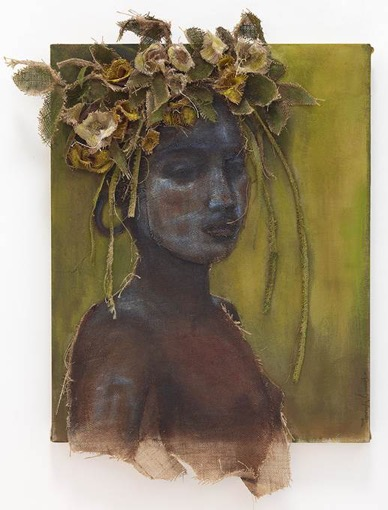 African Youth With Yellow Flower Headdress