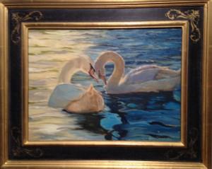 Swans framed
