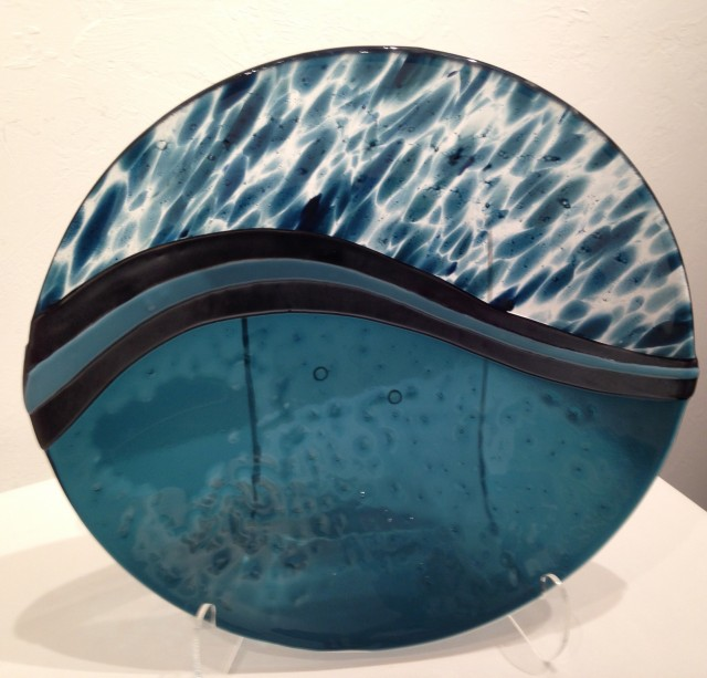 Blue Metallic Bowl