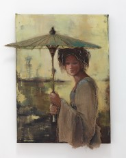 African Woman With Umbrella